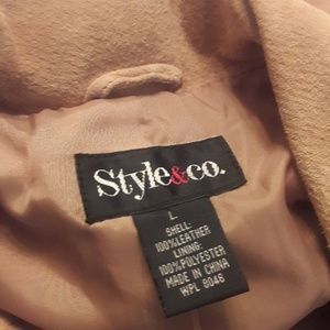 Style & Co Jackets & Coats - Style & Co./ Tan/ Suede Coat